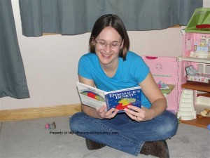 Here I am, reading to the kids.