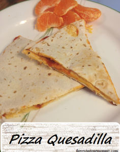 pizza quesadilla recipe -- perfect for lunch!