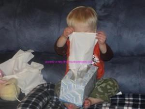 tissue peekaboo