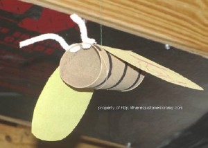cardboard bug bumble bee craft