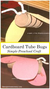 cardboard tube bug craft -- simple preschool craft