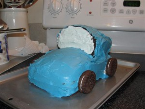 making car cake