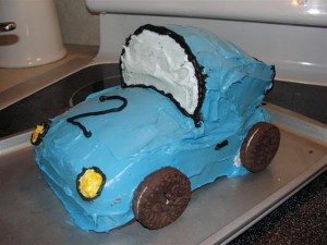 making a car cake