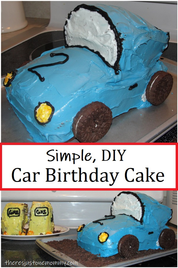 how to make a 3 dimensional car cake,