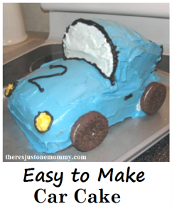 How to make a car cake -- great boy's birthday cake