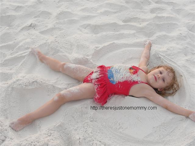 Making Sand Angels There S Just One Mommy