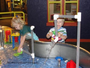 We had the water table to ourselves!