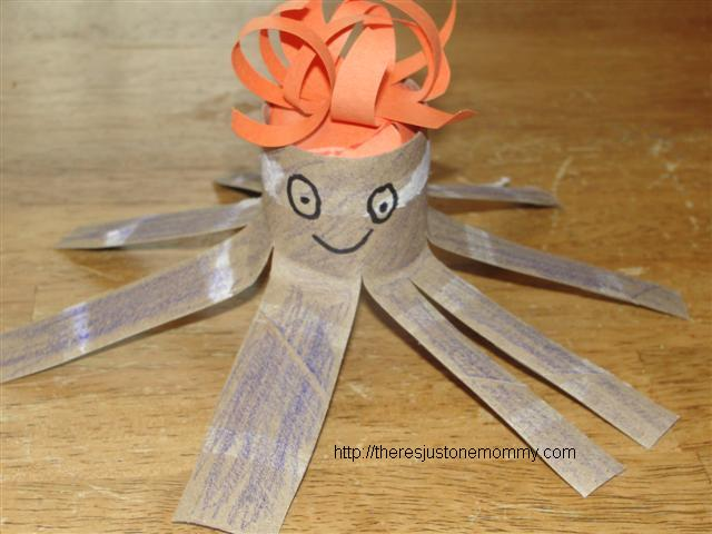 preschooler toilet paper roll octopus craft
