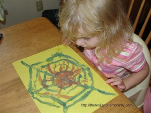 toddler spider craft