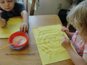 preschooler spider web craft