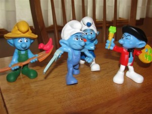 Happy Meal Smurfs