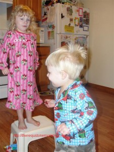 "Running in circles in full ""potty treat"" excitement -"