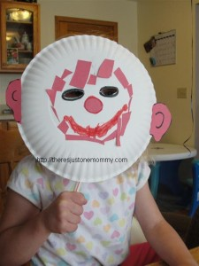 Paper Plate Masks – Wordless Wednesday