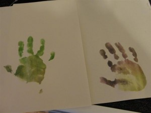 toddler hand print craft