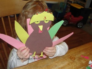 preschooler turkey craft