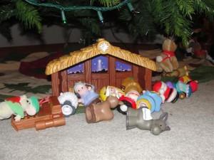 children's nativity set
