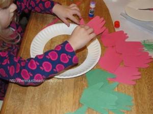 Hand Print Wreaths (or Hats)