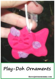 Play-Doh ornament -- simple homemade Christmas ornament kids can make