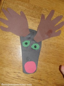 toddler reindeer craft -- perfect for Christmas!