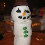 snowman snack