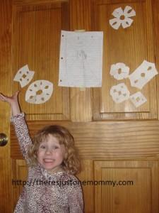 preschooler snowflake craft