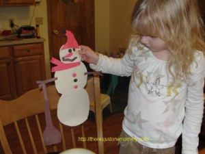 preschooler snowman craft