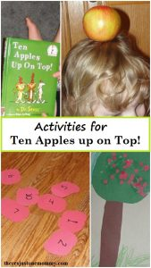 activities for 10 Apples up on Top: Dr. Seuss book craft, Ten Apples up on Top craft and activities