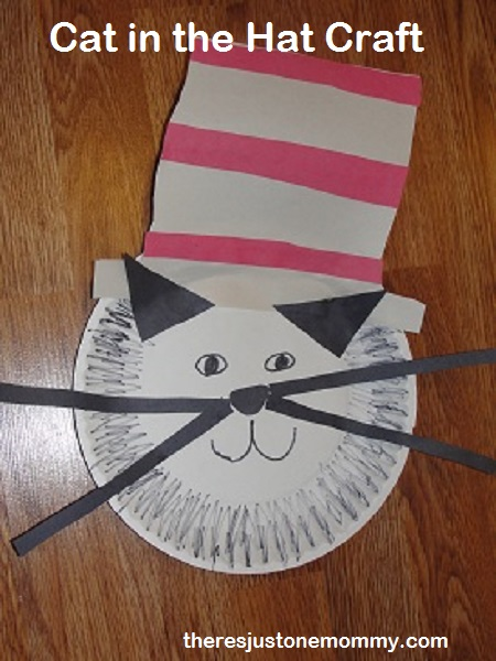 Cat in the Hat craft from There's Just One Mommy