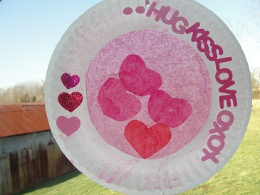 preschooler Valentineu0027s Day craft & Valentineu0027s Day Sun-Catcher Craft | Thereu0027s Just One Mommy