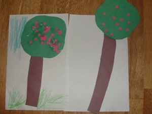 apple tree craft for 10 Apples up on Top