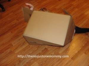 kids and cardboard boxes