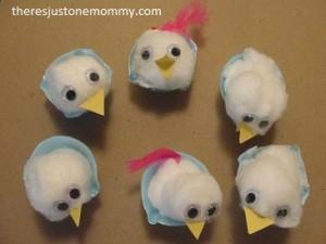 preschool Easter chick craft