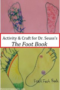 Dr. Seuss craft for The Foot Book