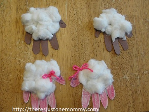 fun hand print sheep craft