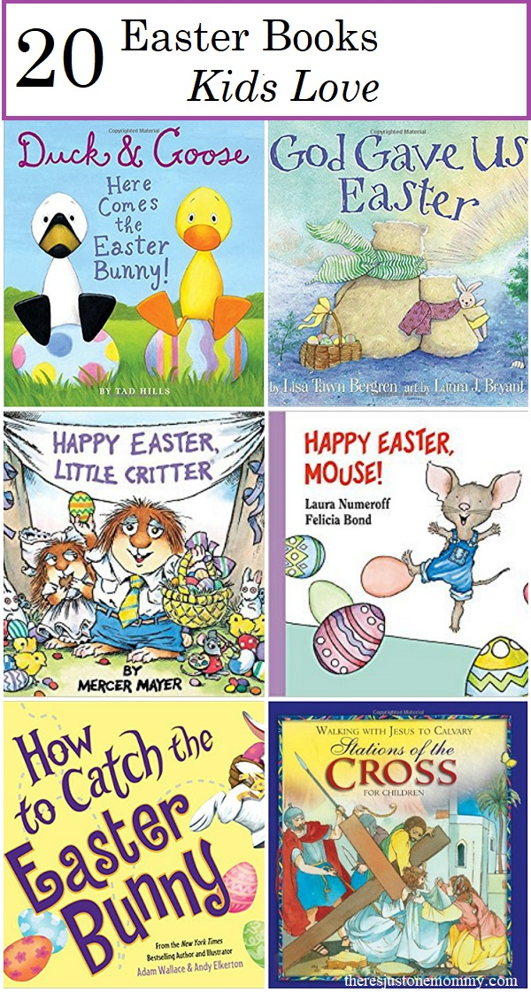 kids Easter books: fun toddler and preschool Easter books as well as Easter books for elementary kids