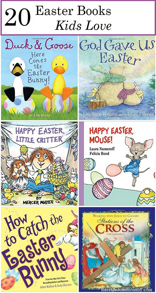 kids Easter books: fun toddler and preschool Easter books as well as Easter books for elementary kids