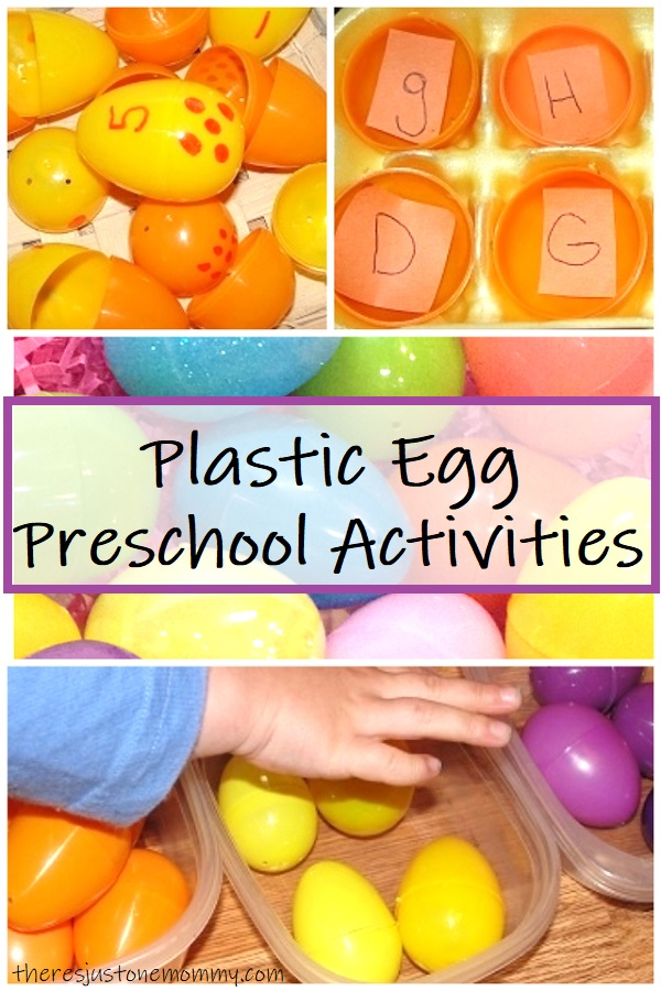 preschool activities with plastic eggs