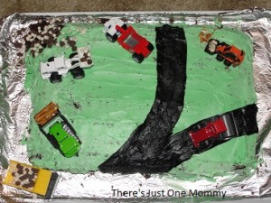 Construction Vehicle Cake