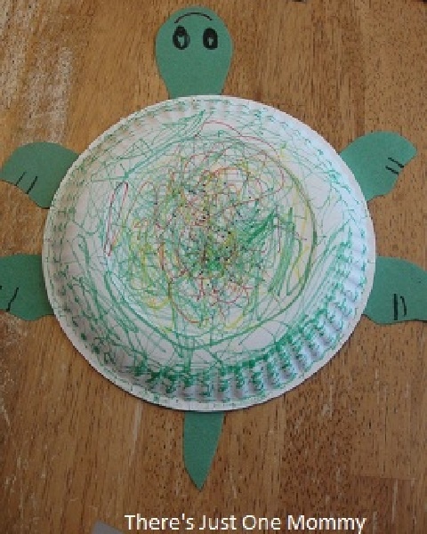 Paper plate turtle craft & Turtle Craft | Thereu0027s Just One Mommy