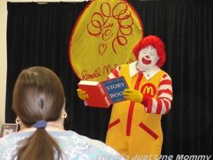 Ronald McDonald at library