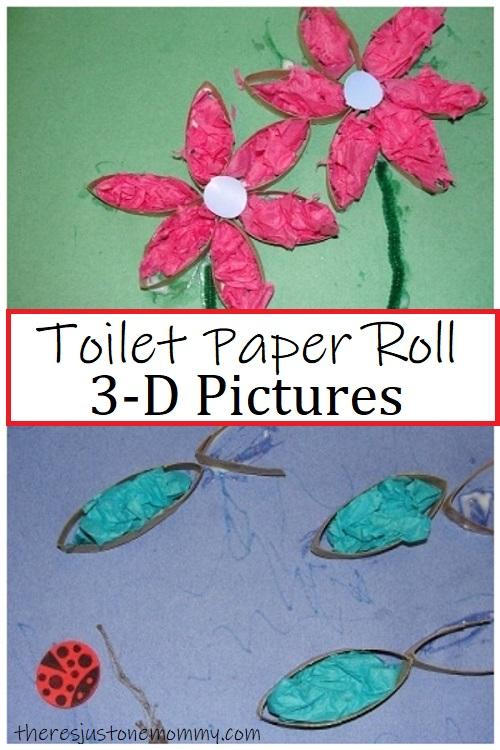 preschool craft with toilet paper tubes