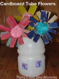 Cardboard Tube Flowers -- perfect for Mother's Day!