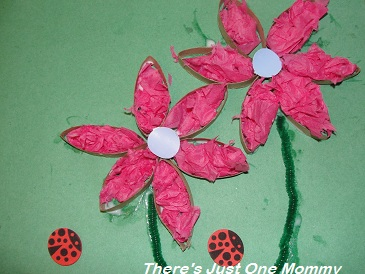 Cardboard tube collage craft there 39 s just one mommy for Tissue tube crafts