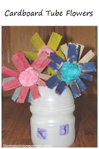 Cardboard Tube Flower Craft