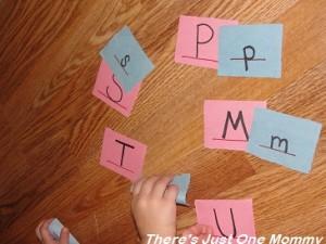 learning lower case letters