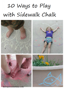 10 fun ways to use sidewalk chalk