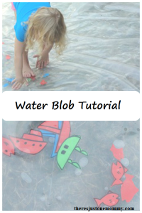 water blob tutorial -- make your own water blob for fun water play this summer!
