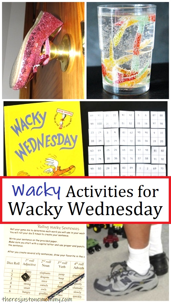 Dr Seuss Wacky Wednesday activities