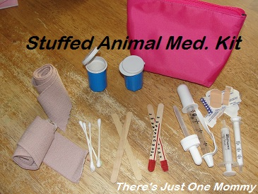 homemade play doctor kit for pretend play