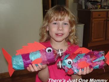 kids water bottle craft